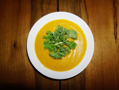 Carrot and Sweet Potato Soup Recipe for the Winter Blues