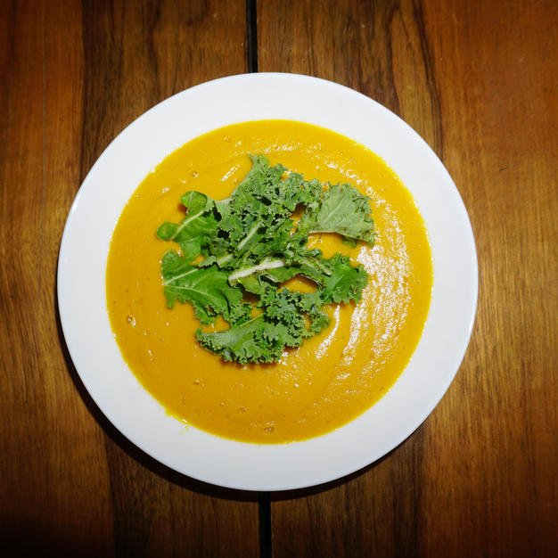 {Blog Post} Carrot and Sweet Potato Soup Recipe for the Winter Blues