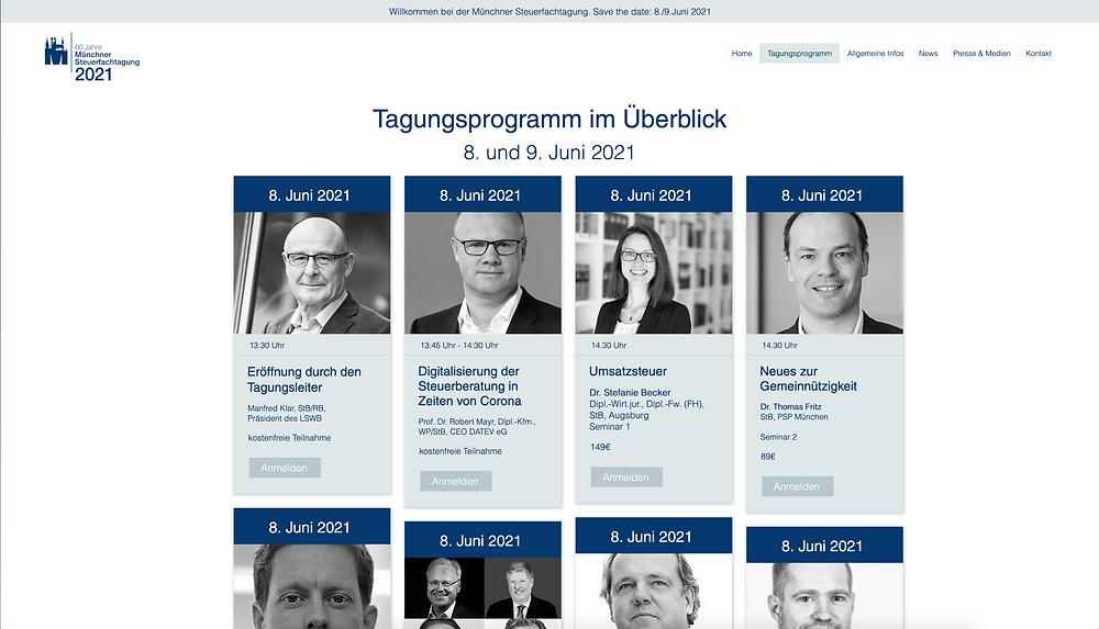 Steuerfachtagung Programmüberblick