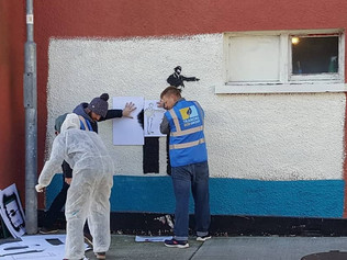 "Kathrin wins first price of Tramore's ""Bansky Project""-Art Competition to raise ecolog"