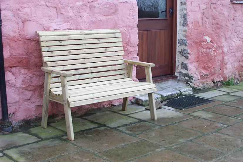 High Back 2 Seater Garden Bench | Custom Garden Chairs