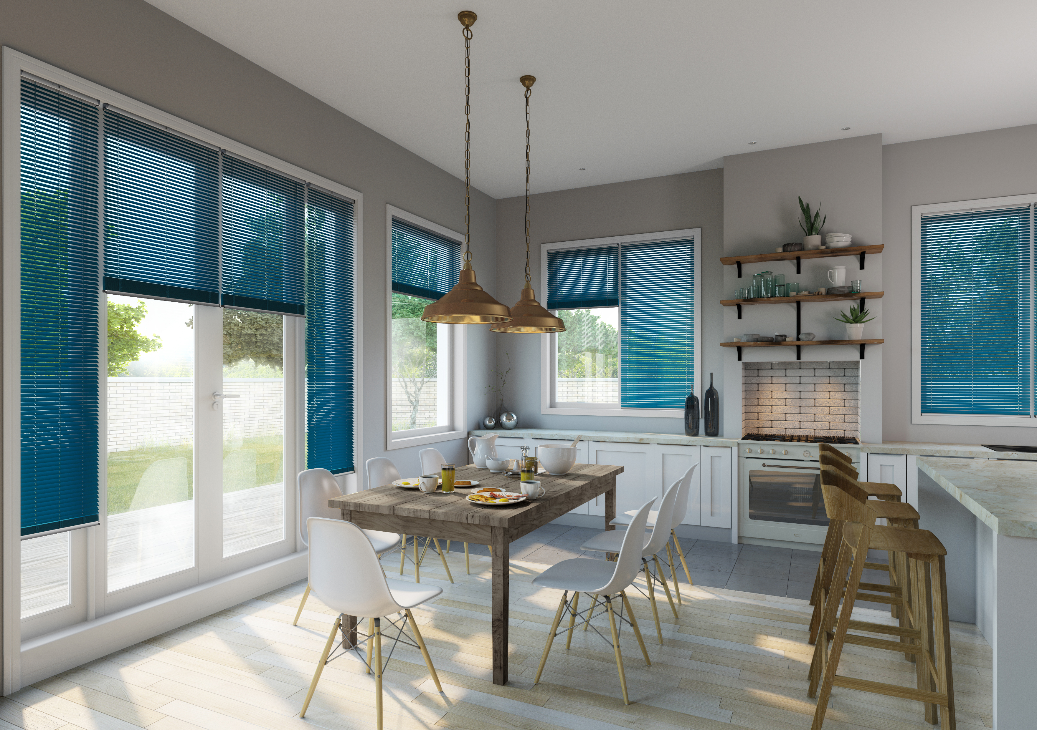 Kitchen Diner Venetian Turquoise