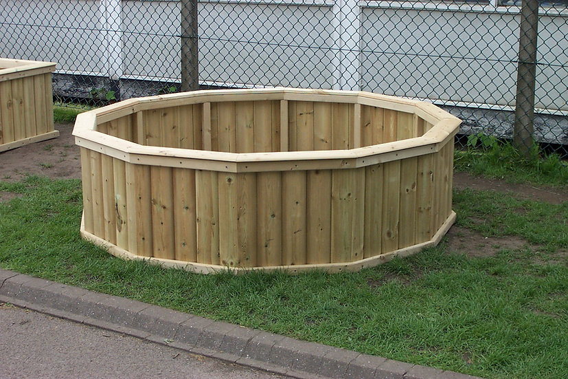 Giant Hexagonal Planter | Wooden Planters