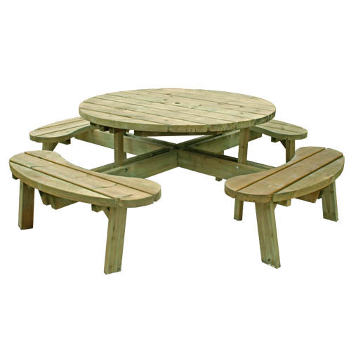 Custom Built | Bespoke Picnic TablesCustom Built | Bespoke Picnic Tables | 8 Seater Round Picnic Table