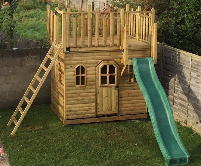 Hill Top Fort Wooden Play Castle | Outdoor Childrens Playhouse