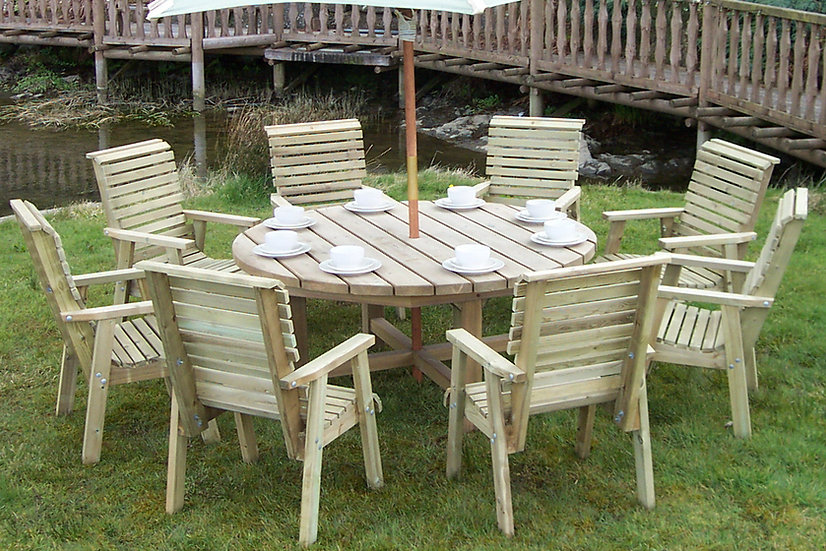Manor Round Outdoor Dining Set | Outdoor Dining Tables