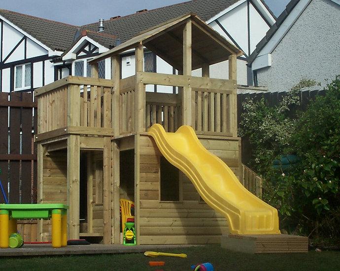 Custom Play Tower Adventure Tower | Handmade Wooden Playhouse