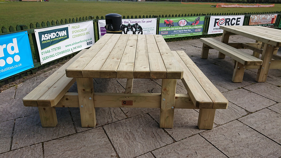 Custom Made Picnic Tables | Bespoke Garden Furniture | Heavy Duty Commercial Grade Picnic Tables