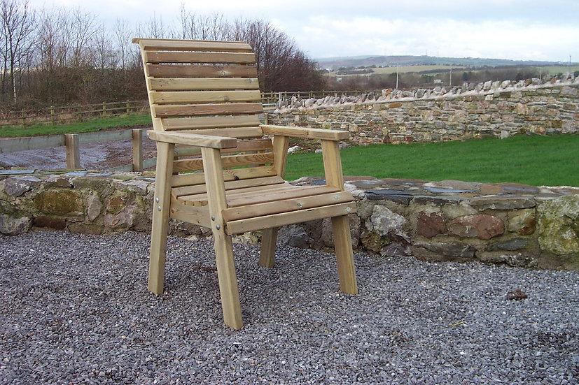 High Back Wooden Chair | Custom Garden Chairs | High Back Garden Chair