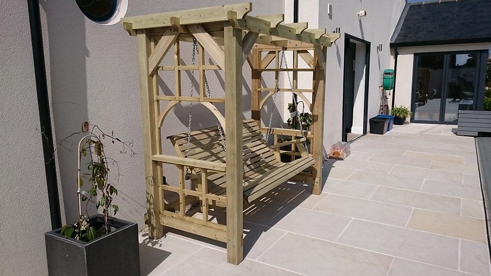 Wooden Cottage Pergola Swing | Outdoor Swings | The Cottage Pergola Swing