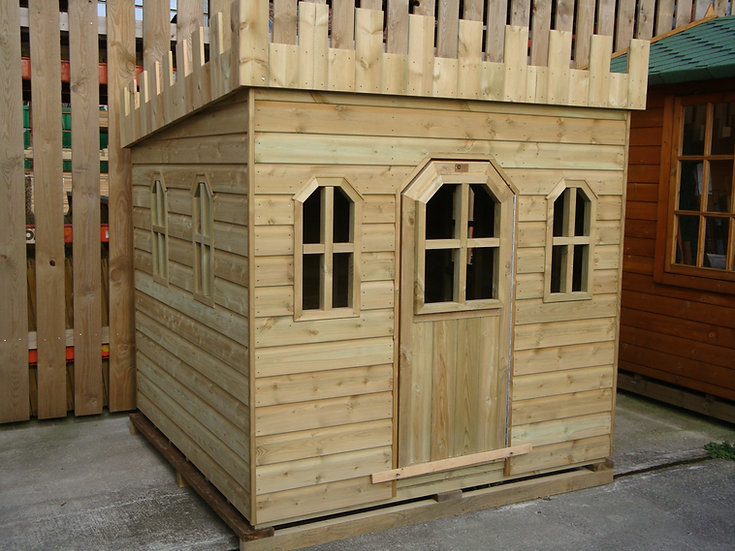 The Castle Playhouse | Hardwood Childrens Playhouse