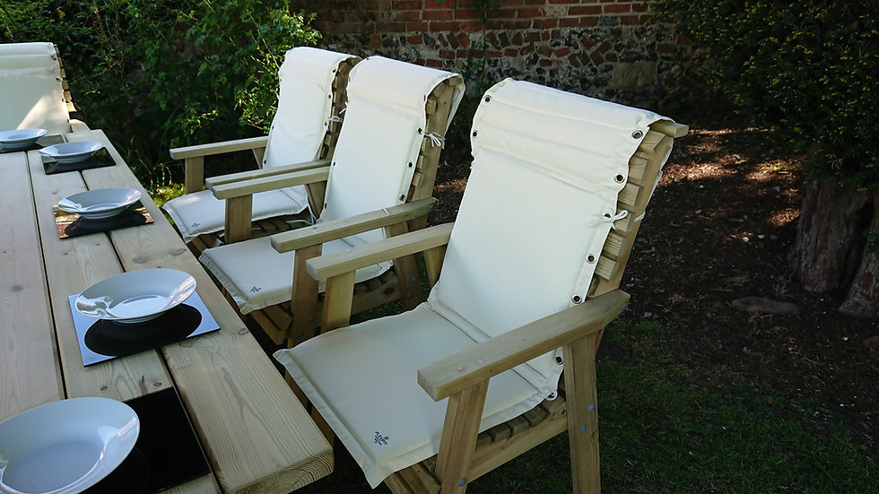 High Back Flexifit Cushions | Wooden Garden Parasols