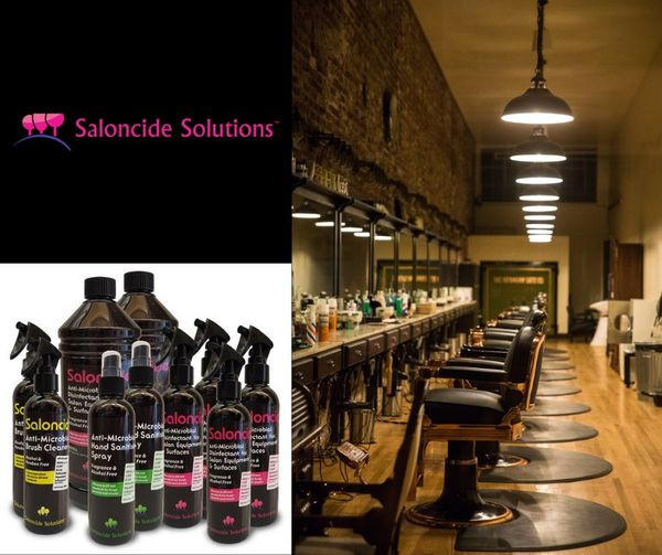 Saloncide Solution, Barber Cleaning, Barbershop Covid-19