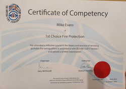 Mike Evans Certified 1st Choice Fire Extinguishers Wales