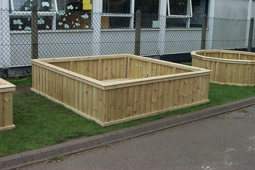 Giant Square Planter | Wooden Planters
