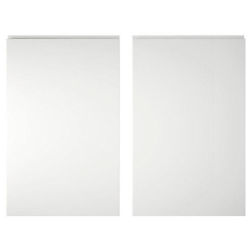 Marletti Gloss White Larder door (W)600mm, Set of 2