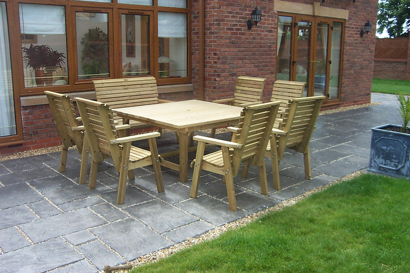 Square Country Table Dining Set | Outdoor Dining Tables