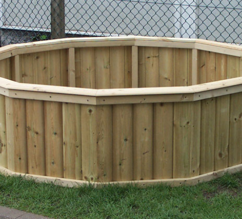 Giant Round Planter | Wooden Planters