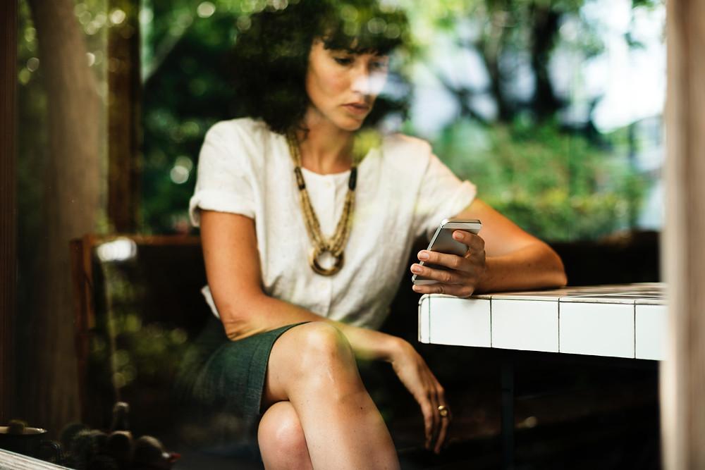 mobile apps, digital marketing, lady, app, coffee shop