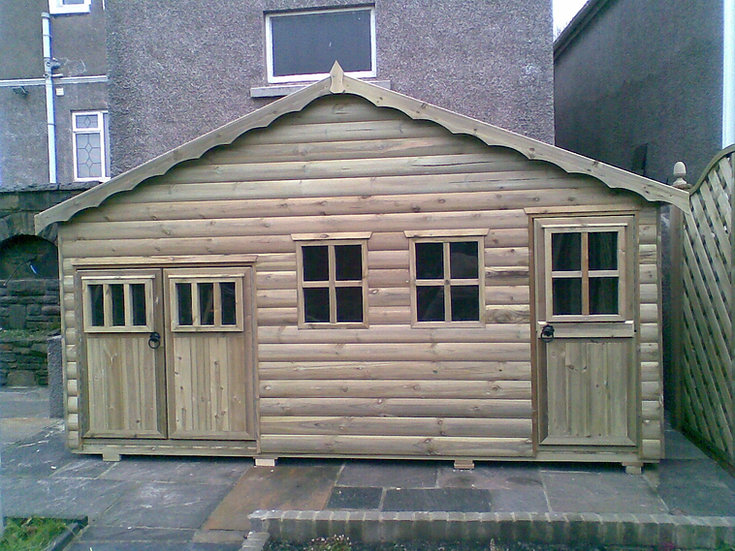 Single Story Town House | Childrens Wooden Playhouses