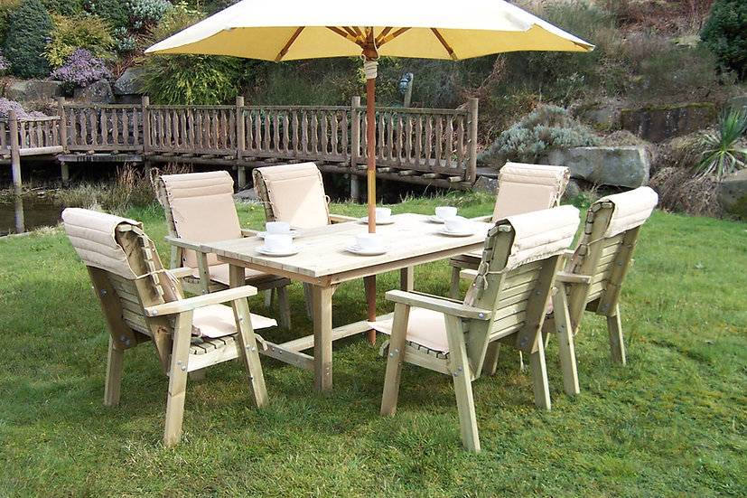 Large Country Table Dining Set | Outdoor Dining Tables