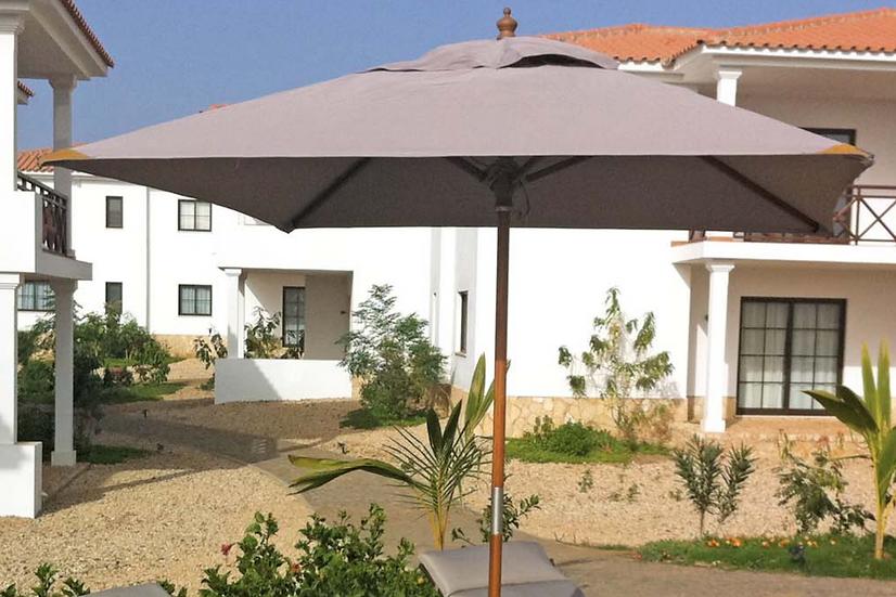 3m x 3m Sturdi Plus Parasol | Wooden Garden Parasols