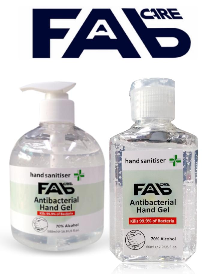 FAB  Care Hand Sanitiser, Barbershop Antibacterial Hand Gel