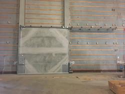 Studio door before Insul-quilt