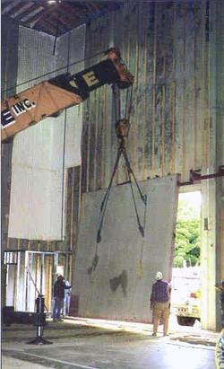 Lifting a Concrete Studio Door