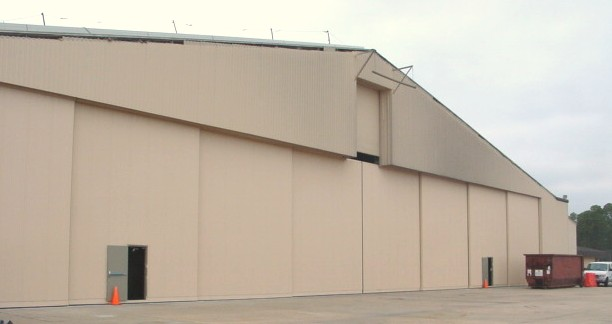 Hangar door with Tail Door