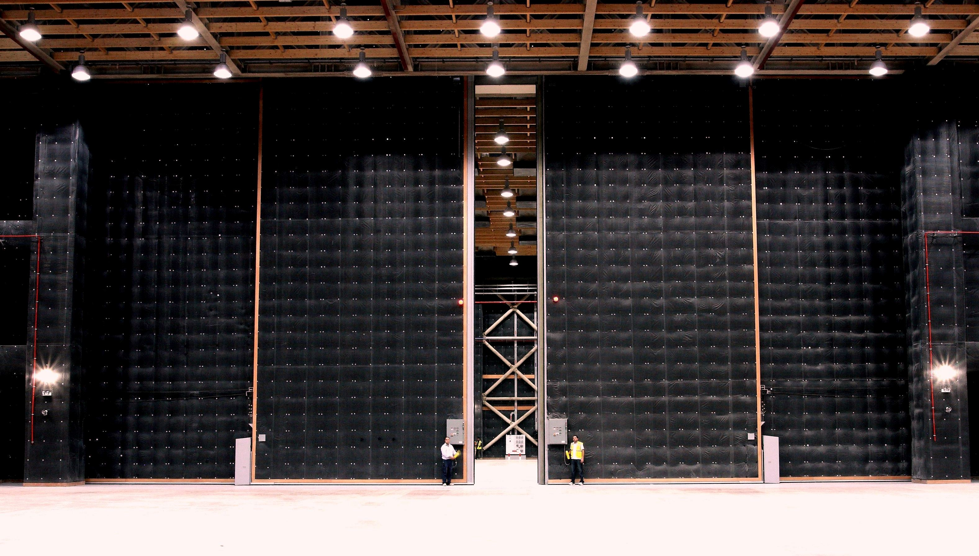 Large Scale Acoustic Door