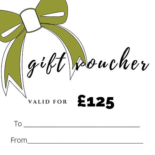 GIFT VOUCHER £125