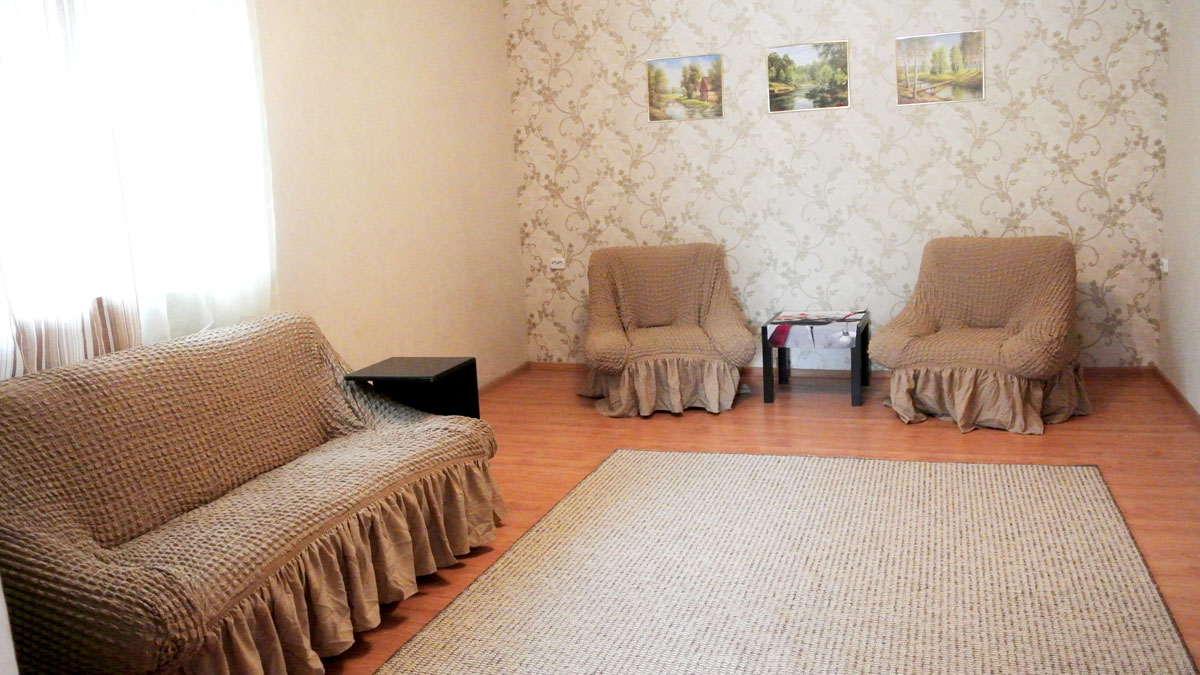 Гостиная с раскладным диваном...