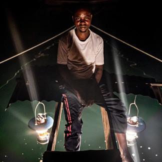 Fishing at night, lake kivu, Rwanda