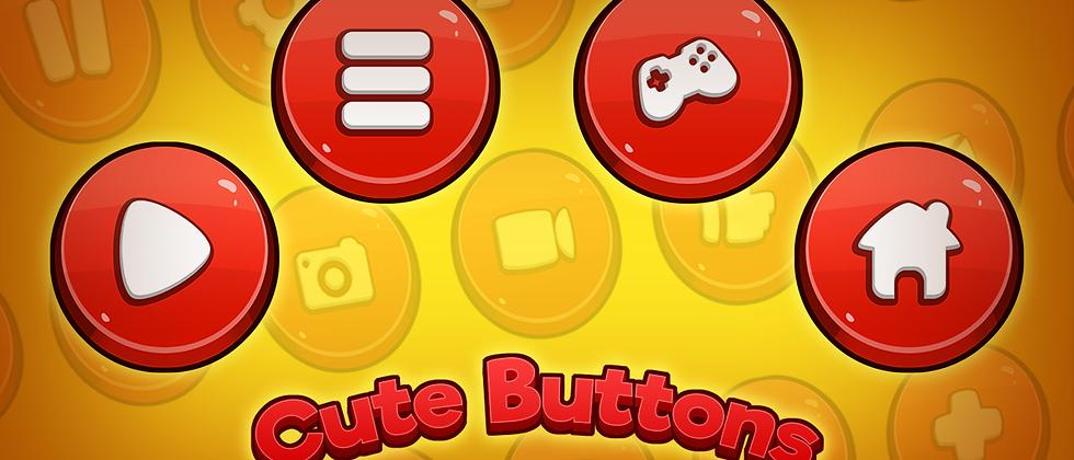 Cute Buttons GUI Kit