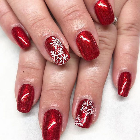 Red sparkles & snowflakes ❤️❤️❤️