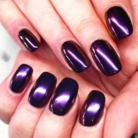 Purple Chrome Nails