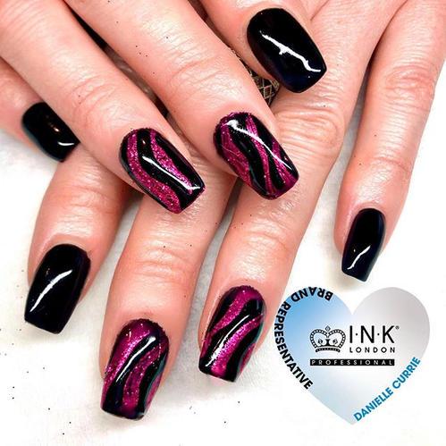 Priya glitter nail design