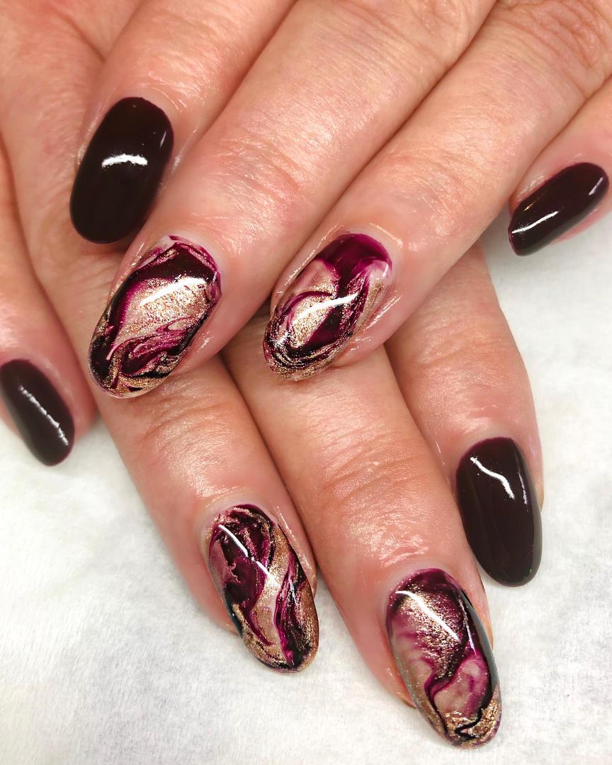 Popular design marble nails
