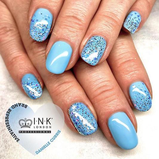 Frozen theme nails