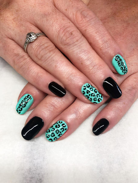 ink&co leopard print nails