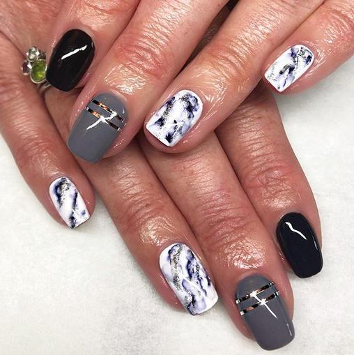 Marble Gel Nails