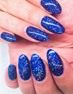 Lucia holographic glitter nails