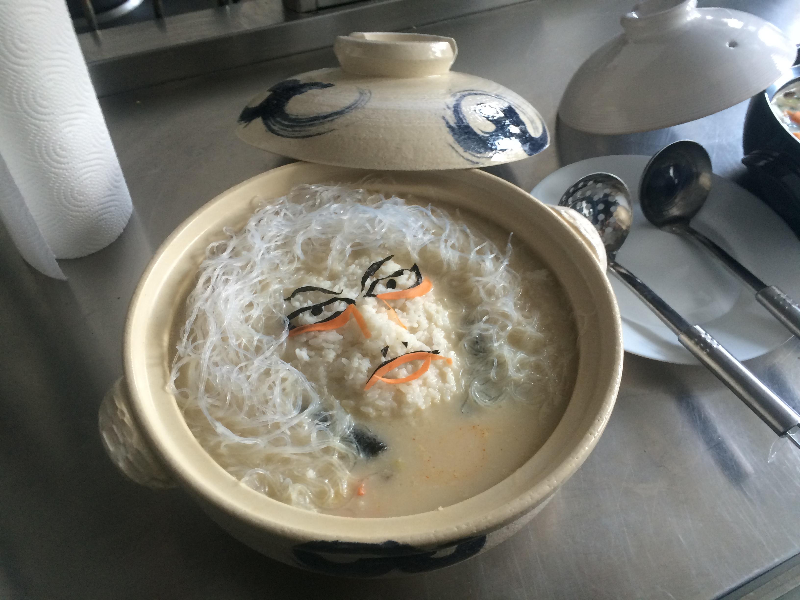 Japan host's breakfast