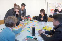 Kaye Toland and her team ideating.
