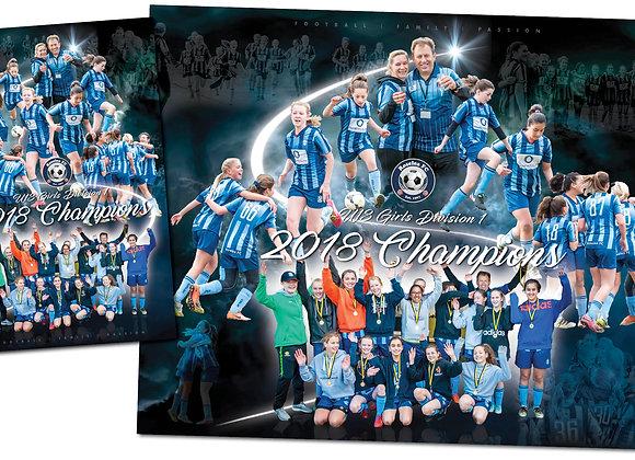 U13 Girls 2018 Champions - print package
