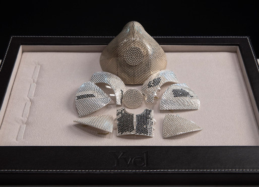 World's Most Expensive Coronavirus Mask is Covered with 3,600 White & Black Diamonds