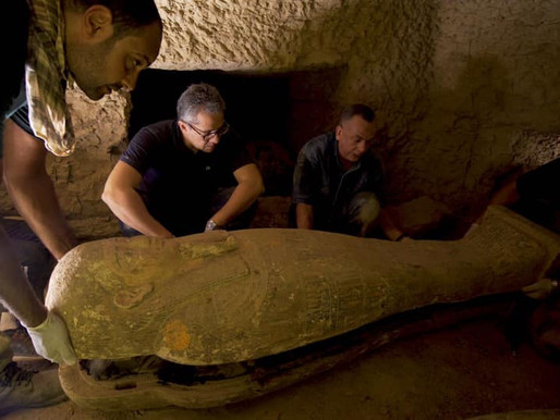 Largest Finding Of Stacked Mummy Coffins Discovered In Ancient Well Of Egyptian Saqqara Necropolis