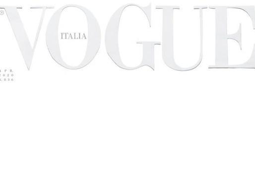 Vogue Italia Prints All White Cover in Response to Coronavirus Pandemic