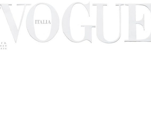 Vogue Italia Prints All White Cover in Response to Coronavirus Pandemic